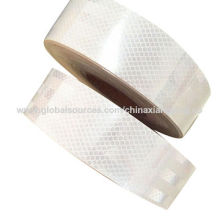 Branco personalizado impressão de fitas de segurança reflexiva