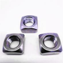 Écrous carrés crénelés à filetage en acier inoxydable