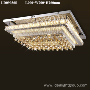 European luxury chandelier light amber chandelier crystal