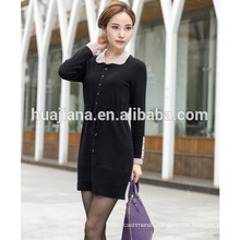 2015 spring lady's fashion cashmere knitting dress