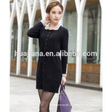 Vestido de confecção de malha de cashmere da moda da primavera de 2015
