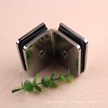 Abrazadera de clip de vidrio a vidrio de 90 grados para puerta de vidrio templado