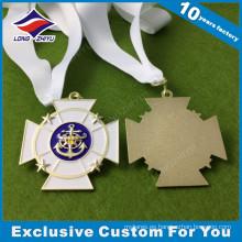 Medallón de medalla de metal atlético personalizado forma única