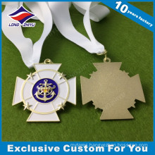 Unique Shape Custom Athletic Metal Medal Medallion