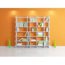 Livraria pintada de madeira branca simples