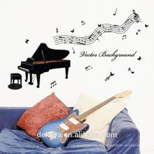 Музыкальные ноты & окна фортепиано ПВХ наклейки стены