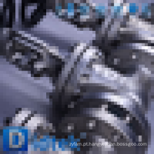 Dimensões da válvula de porta flangeada Alkali confiável da Didtek