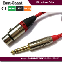 "Nylon braid 1/4"" to 3pin XLR microphone Cable"