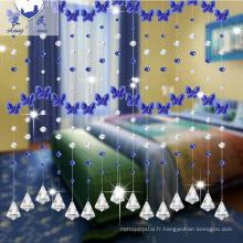 Vente chaude arc en ciel forme rideau de perles en cristal pour la décoration de la maison