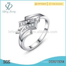 Bagues de platine de mode pour femmes, anneaux de platine pour engagement