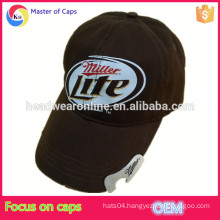 Custom cotton bottle opener baseball cap, beer bottle washed hat