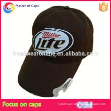 Custom garrafa de algodão abridor de garrafa, garrafa de cerveja lavado chapéu