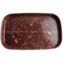 New Design Marble Style Melamine Serving Plate