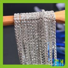 Crystal Rhinestone Chain Trimming para vestido de novia