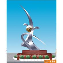 2016 Nouveau produit de la sculpture moderne en acier inoxydable pour le jardin et l'extérieur