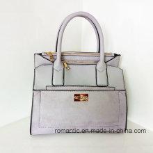Guangzhou Supplier PU Lady Handbags Moda mujer bolso de mano de peluche (Z-013)