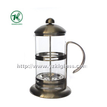 Glass Teapot with Stainless Steel (13.5*18*23)