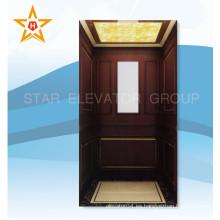 Villa de elevación para el hogar con acabado de madera y vidrio Xr-J06