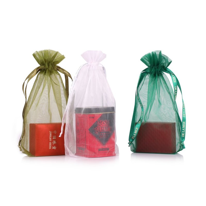 colorful customed size organza pouch