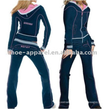 Blue brand velour tracksuits