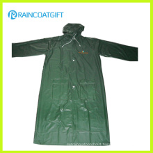 Adult Waterproof PVC Long Raincoat Workwear Rvc-083