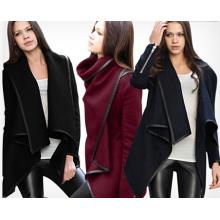 Стильная Зимняя шерсть горячая Продажа Женская мода с длинными рукавами пальто (14337)