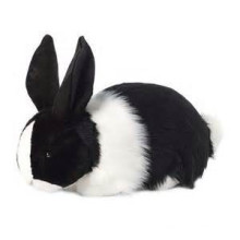 EN71/ASTM black stuffed bunny toy