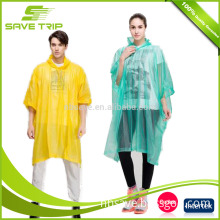 Universal Size womens men kids disposable waterproof yellow rain coat