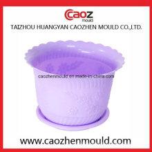 De plástico de alta calidad de fabricación de molde de pote de flores en China