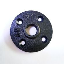 Black Malleable cast iron 1/2 inch floor flange