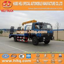 DONGFENG camion plate-forme 4x2 avec 3,2 tonnes grue à prix réduit vente chaude à vendre