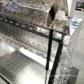 Alumínio verificador placa caminhão cama caixa de ferramentas para caminhão Alumínio verificador placa caminhão cama caixa de ferramentas para caminhão