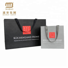 Bolso de papel del arte del portador del diseño simple de encargo de Guangdong con la laminación suave del tacto Matt