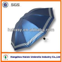 Nuevos productos calientes para el paraguas plegable del hombre de la moda 10K 3 2017