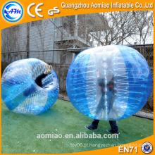 2016 ilha feliz brinquedos futebol bolha, terno de bola pára-choques, bola de bolha inflável