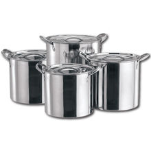 Good Quality 4PC Large Stainless Steel Catering Deep Stock Set