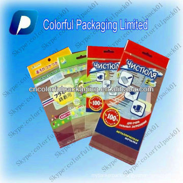 Pearlized film header Packaging Bag with customized printing