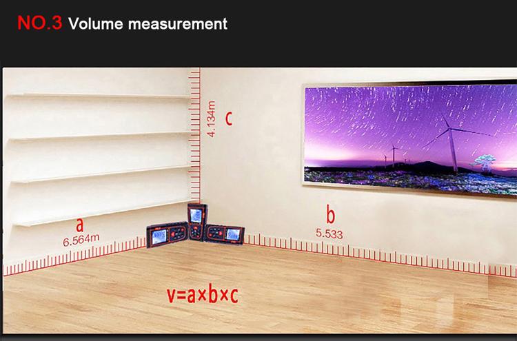 volume measure laser distance meter