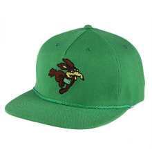 OEM en gros personnalisé broderie 5 panneau corde snapback cap Promtional sport chapeau avec strapback fermeture