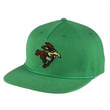 OEM atacado personalizado bordado 5 painel snapback cap corda Promtional esportes chapéu com fechamento strapback