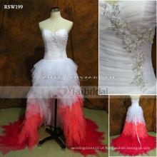 RSW199 Vestidos de casamento rosa e branco
