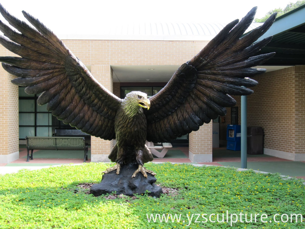 large size bronze eagle statue