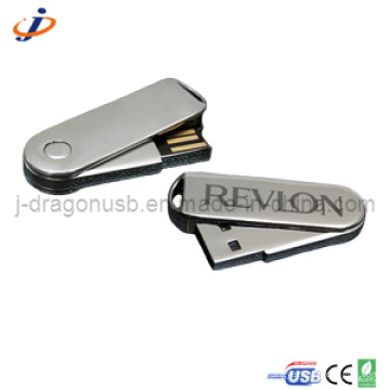 Chrome Spin Metal USB Flash Drive 32GB Jm156