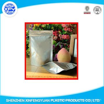18cm * 26cm Folha de alumínio Levante-se com Bolsa Zipper Bolsa de plástico de embalagem de alimentos