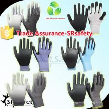 SRSAFETY 18G из нейлона + покрытого стеклом защитного перчаточного защитного перчатка