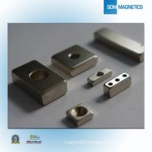 Block High Gauss Strong Counterbore Magnet