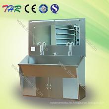 Thr-Ss027 Medizinische Edelstahl-Scrub-Waschbecken für zwei Personen
