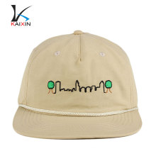 high quality blank caps rope brim nylon buckle cheap snapback caps