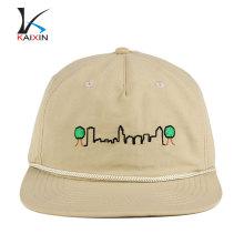 alta qualidade em branco tampas de corda de brim de nylon fivela barato snapback caps