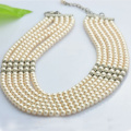 Six Strands Natural Pearl Necklace
